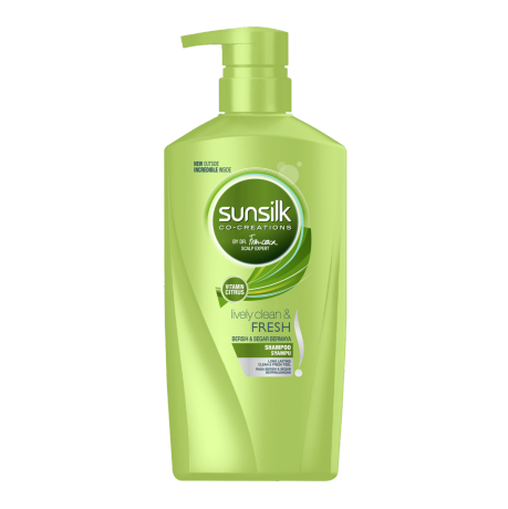 Sunsilk Lively Clean and Fresh Shampoo 650ml front of pack image